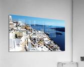 Super panoramic view - Santorini - Greece  Acrylic Print