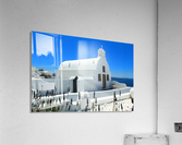 Small White Church in Santorini - Greece  Acrylic Print
