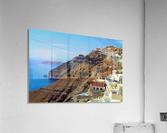 Santorini Mountains Landscape - Greece  Acrylic Print