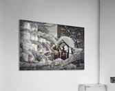 Red Playground Under Snow  Acrylic Print