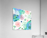 flower and blue agate  Acrylic Print