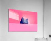 Cat on Deep Pink  Acrylic Print