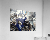 BLACK AND BLUE  Acrylic Print