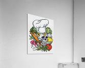 Dia de los Muertos Chef  Acrylic Print