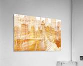 Graphic Art MANHATTAN Collage | golden  Impression acrylique