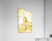 EIFFEL TOWER   golden illusion  Acrylic Print