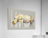 Rhino Mosaic  Acrylic Print