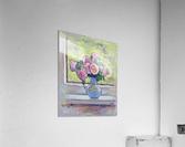 Tea Roses Bouquet on the Windowsill  Acrylic Print