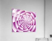 Abstract Pink Spiral Art   Acrylic Print