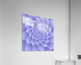 3D Modern Purple  Floral Art  Acrylic Print