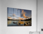 Two Jack Lake Sunset  Acrylic Print