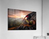 Golden hour high alpine ride  Acrylic Print