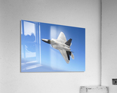 An F-A-22 Raptor banks during a training sortie.  Acrylic Print