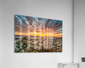Rocks and Sunset  Acrylic Print