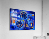 Grefenorium - blue spiral world  Acrylic Print