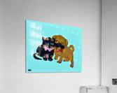 Pugs and Hugs. Erin R  Acrylic Print