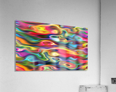 Abstract Colorful Waves  Acrylic Print