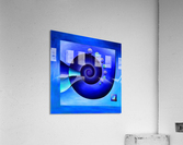 Escanissimera - endlessly limited blue spiral snail  Acrylic Print