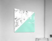 ABSTRACT MODERN TURQUOISE GLASS MARBLE  Acrylic Print