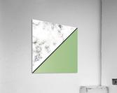 ABSTRACT MODERN YELLOW GREEN MARBLE  Acrylic Print