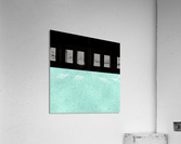ABSTRACT TURQUOISE GLITTER  Acrylic Print