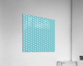 Cadet Blue Heart Shape Pattern  Acrylic Print