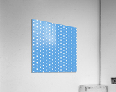 CORNFLOWER Heart Shape Pattern  Acrylic Print