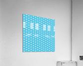 AQUA Heart Shape Pattern  Acrylic Print