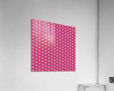 Fuchsia Rose Heart Shape Pattern  Acrylic Print