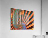 Composition in Orange Blue & Green  Acrylic Print