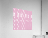 Sweet Lilac Heart Shape Pattern  Acrylic Print