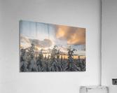 Winter sky  Impression acrylique