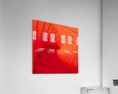 Composition Vermillon  Acrylic Print