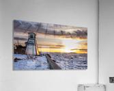 A winter evening  Impression acrylique