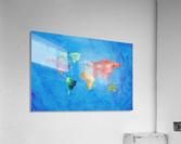 Artistic World Map III  Acrylic Print
