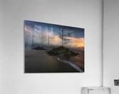 Dusk at Mumbles lighthouse  Acrylic Print