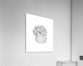 Line Drawing  Acrylic Print