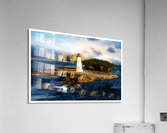 Bahamas Lighthouse with Resort Soft  Acrylic Print