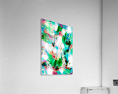 Waterfall vertical - multicolor abstract swirls  Acrylic Print