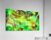 Emerald Field - green brown gold abstract swirls  Acrylic Print