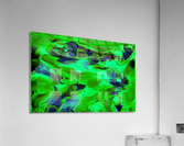 Gemphire - emerald green dark blue abstract swirls wall art  Acrylic Print