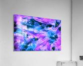 Purple Ice - purple blue abstract swirl wall art  Acrylic Print