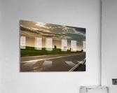A twilight on the road  Impression acrylique