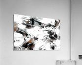 Brown Sugar & Coffee - brown grey white black swirls large abstract wall art  Acrylic Print