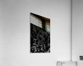 Infinite - black white gradient polygons swirls large abstract wall art  Acrylic Print