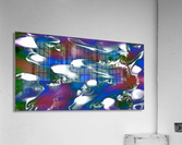 Morphing Dreams - blue green purple swirls and spots large abstract wall art  Acrylic Print