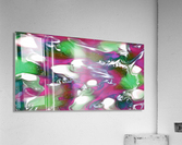 Plums & Lime with Mint Leaves - purple green white swirls and spots large abstract wall art  Acrylic Print