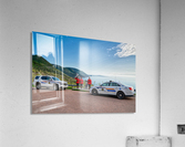 RCMP with cruisers at French Mountain Monument  Acrylic Print