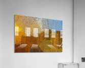 color colors abstract yellow brown  Acrylic Print