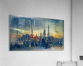 city metro pole buildings  Acrylic Print